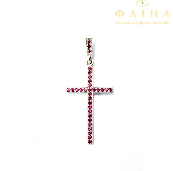Золотой крест с сапфиром (К-31р) - 1