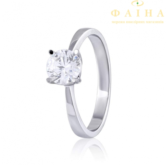 Золотое кольцо с фианитом (4186Sw) - 1