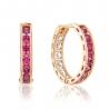 Золотые серьги-кольца с фианитом (4174SwRe) - 1