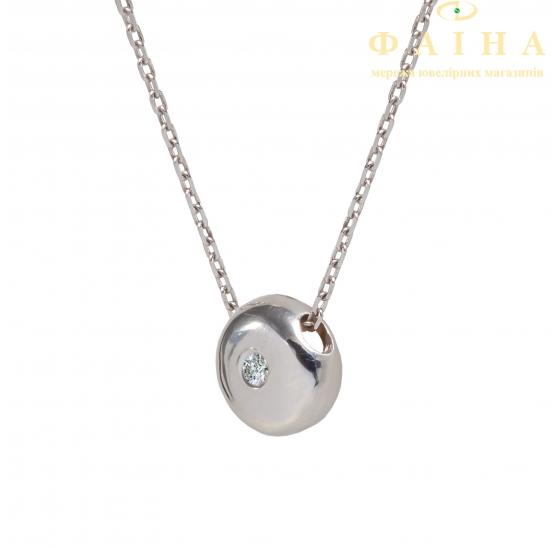 Золотая цепь-колье с бриллиантом (730175б) - 1