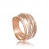 Золотое кольцо с фианитом (КВ2459) - 1