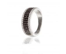 Серебряное кольцо с фианитом (КК2ФО/261)