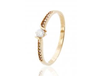 Золотое кольцо с фианитом (1383015)