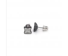 Серебряные серьги-пуссеты (2629ч053)