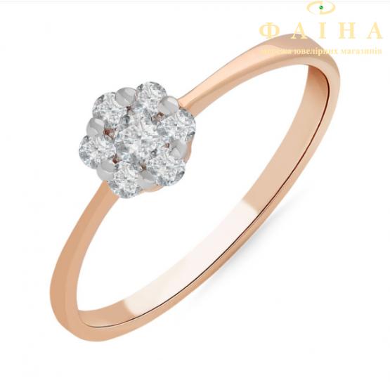 Золотое кольцо с бриллиантом и сапфиром (101-10015) - 1