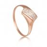 Золотое кольцо с фианитом (к132) - 1