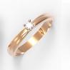 Золотое кольцо с бриллиантом (11883) - 1