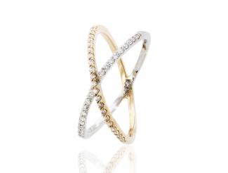 Золотое кольцо с фианитом (700077)