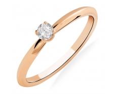 Золотое кольцо с бриллиантом (101-10089)