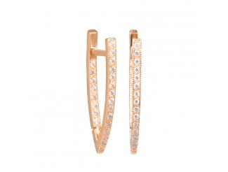 Золотые серьги с фианитом (2049046)