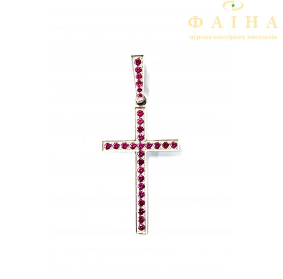 Золотой крест с сапфиром (К-29р) - 1