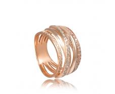 Золотое кольцо с фианитом (КВ2459)