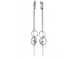 Серебрянные серьги с подвесками (3400,1)