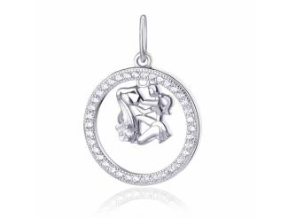 Серебряный кулон-знак зодиака (П2Ф/2031водолей)