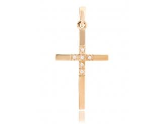 Золотой крест с фианитом (3123006)