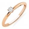 Золотое кольцо с бриллиантом (101-10089) - 1