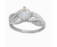 Серебряное кольцо с фианитом (2257,1)