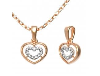 Золотой кулон с бриллиантом (33406)