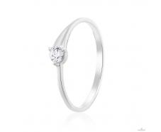 Золотое кольцо с фианитом (ко4190-1Sw)