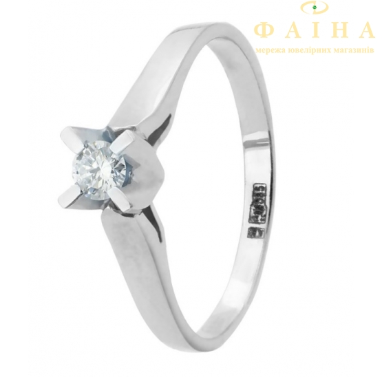 Золотое кольцо с бриллиантом (112-1062б) - 1