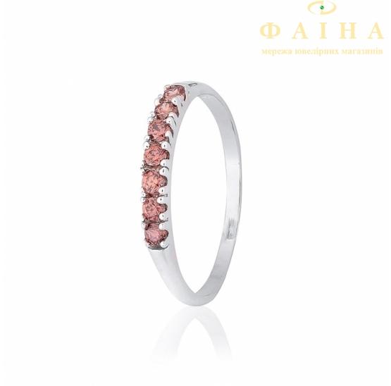 Серебрянное кольцо с цирконием (КК2ФРТ/020) - 1