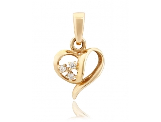 Золотой кулон с фианитом (3087003)