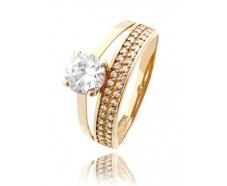 Золотое кольцо с фианитом (818)