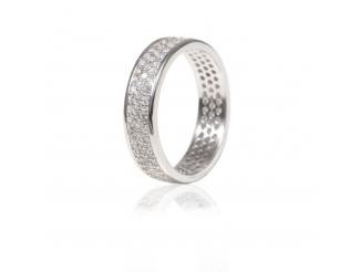 Серебряное кольцо с фианитом (КК2Ф/374)