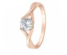 Золотое кольцо с фианитом (1190543101)