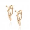 Золотые серьги с фианитом (2238006) - 2