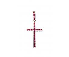 Золотой крест с  сапфиром (К-29р)