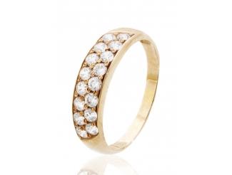 Золотое кольцо с фианитом (129шик)
