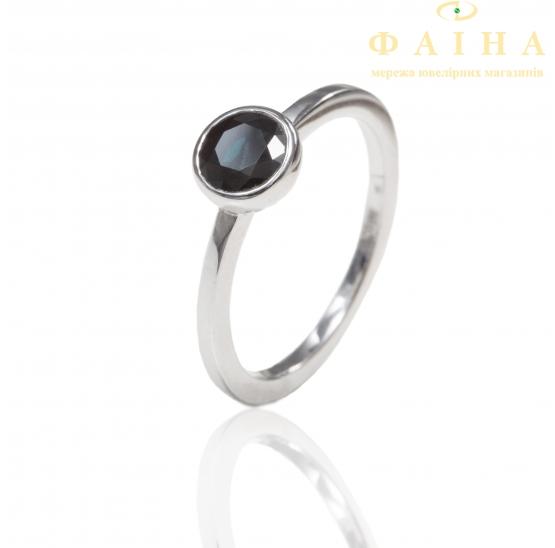 Золотое кольцо с сапфиром (23129190) - 1
