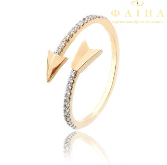 Золотое кольцо с фианитом (700086-Рр) - 1