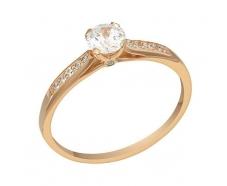 Золотое кольцо с фианитом (1101018101)