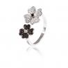 Серебряное кольцо с фианитом (КК2ФО/2023) - 1