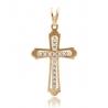 Золотой крест с фианитом (3114017) - 1