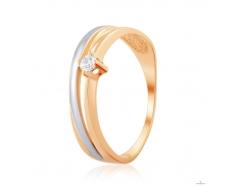 Золотое кольцо с фианитом (4201Sw)