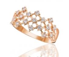 Золотое кольцо с фианитом (0140)