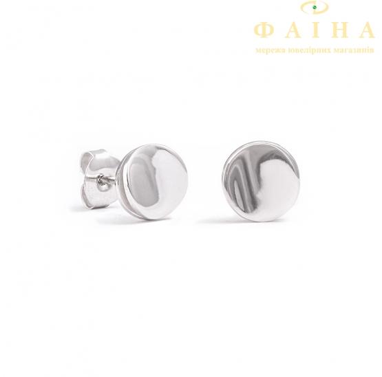 Серебряные серьги-пуссеты (70482) - 1