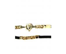 Шнурок с золотым замком (0036-4в/д4)