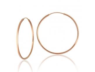 Золотые серьги-кольца (001)