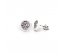 Серебряные серьги-пуссеты (2629б022)