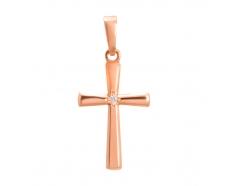 Золотой крест с фианитом (3294001)