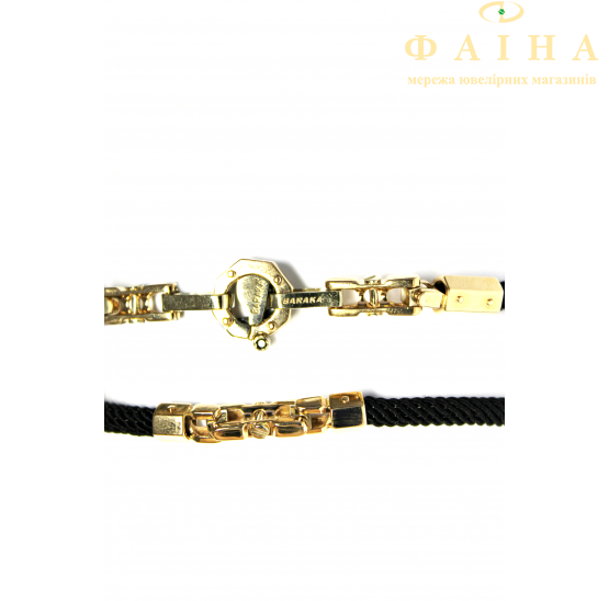 Шнурок с золотым замком (0036-4в/д4) - 1