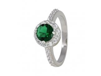 Серебряное кольцо с фианитом (КК2ФИ/437)