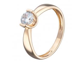 Золотое кольцо с фианитом (1191329101)
