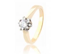 Золотое кольцо с фианитом (177)