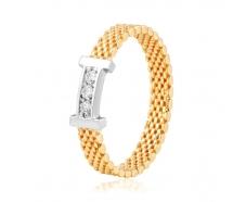 Золотое кольцо с фианитом (2056)