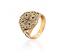 Золотое кольцо-печать (80718-Ч)